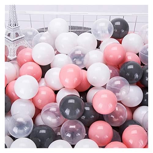 JINSUO Eco-Friendly Colorful Ball Pits Soft Plastic Ocean Ball Transparent Water Ocean Wave Ball Toys para Niños Niño Bebé 5.5/7 / 8cm (Color : 100Pcs 5.5cm)