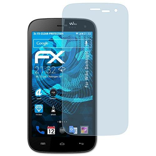 atFolix Schutzfolie kompatibel mit Wiko Darknight Folie, ultraklare FX Bildschirmschutzfolie (3X)