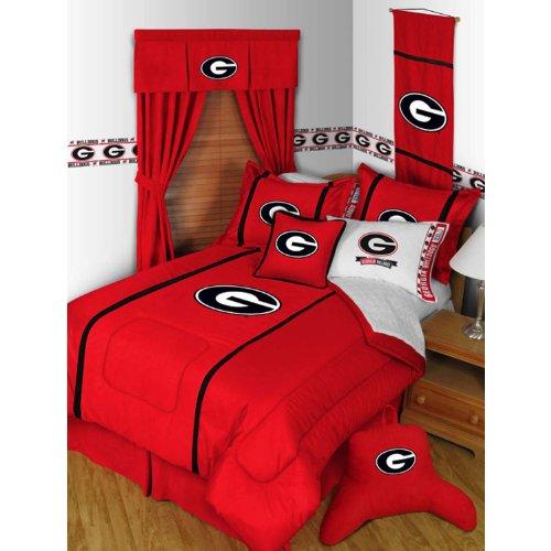 georgia bulldog blanket set - 6