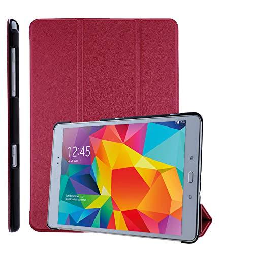 COOVY Custodia ultra magro per Samsung Galaxy Tab A 9.7 SM-T550 SM-T555 SM-P550 SM-P555 Cover con Funzione di Supporto, Auto Svegliati/Sonno I rosso
