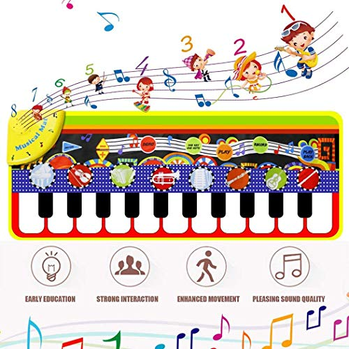 Sharpy Alfombra de Juegos de Piano electrónica Multifuncional para niños Juguetes educativos