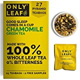 ONLYLEAF Chamomile Green Tea For Stress Relief & Good Sleep, Made with 100% Whole Leaf & Natural...
