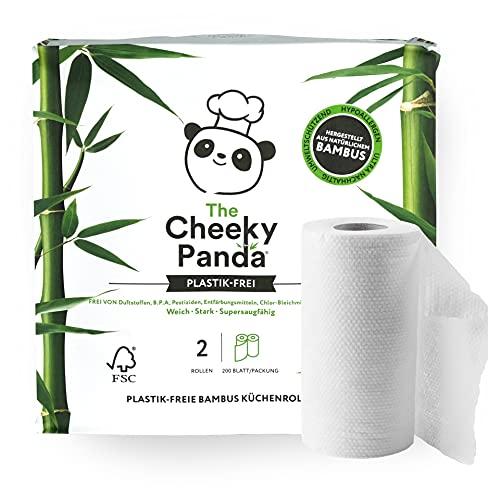 The Cheeky Panda – Küchenpapier aus Bambus | 2er-Packung (2-Lagig) | Biologisch Abbaubar, Plastikfrei, Super Saugfähig, Reißfest & Nachhaltig
