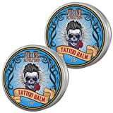 Viking Revolution Tattoo Care Balm for Before, During & Post Tattoo – Safe, Natural Tattoo Aftercare Cream – Moisturizing Lotion to Promote Skin Healing – Tattoo Brightening Treatment (2 Pack)