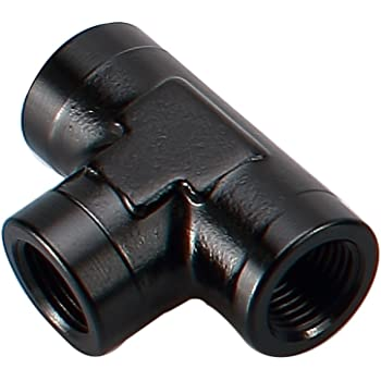 Aluminum 3 Ways 1//2 NPT Female Thread Pipe Tee Converter Tube Hose Fitting Adapters Black