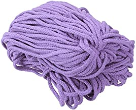 DFSM 11 Color 100M 5mm 109 Yards Cotton Twisted Rope Macrame Cord DIY Handmade Crafts Woven String Braided Wire Home Textile Decor (Color : Purple)