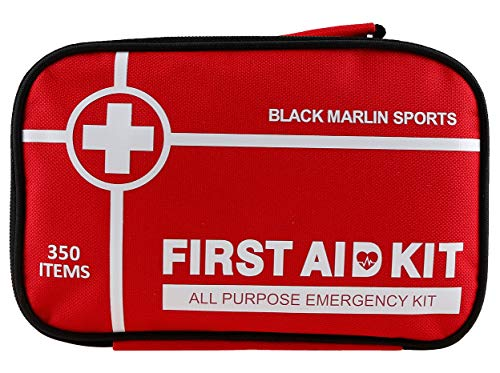 XL First Aid Kit Survival 350 Pieces Upgraded Home Emergency Trauma Bag For Outdoors Car Camping Office Workplace Backpacking Cycling Adventures Hiking & Survival Work
