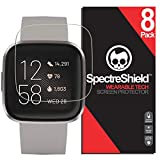 [8-Pack] Spectre Shield Screen Protector for Fitbit Versa 2 Case Friendly Fitbit Versa 2 Screen Protector Accessory TPU Clear Film