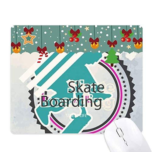 Sport Snowboarden Atleten Illustratie Muis Pad Game Kantoor Mat Kerstmis Rubber Pad