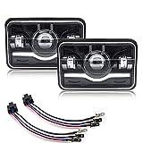 Safego 150W Phares à LED 5 Pouces pour J-eep Wrangler JK YJ TJ LJ Moto, 15000LM Halo Angel Eyes DRL, 2 pièces, 1 an de Garantie