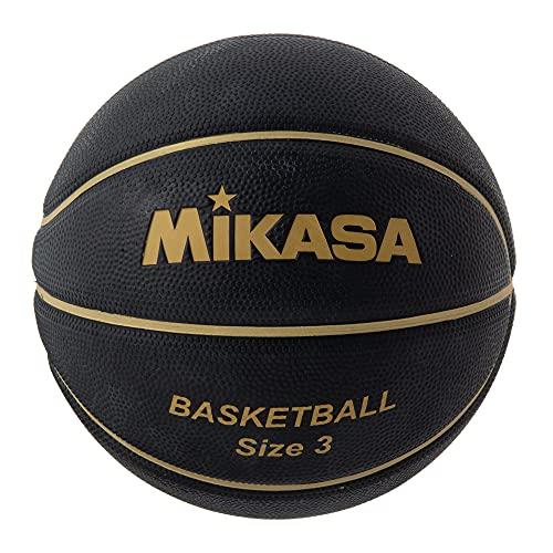 ミカサ(MIKASA) バスケットボール 3号(ジュニア・キッズ向け)ゴム ブラック/ゴールド B3JMR-BKGL