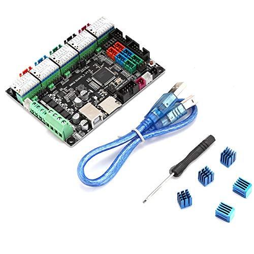 ASHATA 3D Printer Accessories,3D Printer Motherboard Parts For MKS SGen-L + TMC2130x5 Stepper Motor Driver for XYZ/Delta,3D Controller Board 3D Printer Kit