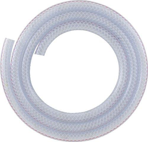 LDR Industries 516 B3810 Reinforced Clear Braided PVC Vinyl Tubing, Flexible Hose, Heavy Duty Hose, 3/8' ID X 5/8' Inch OD, 10-Feet, Clear Finish