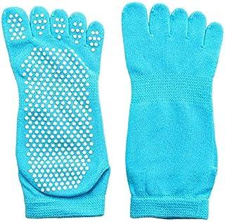 Calcetín de algodón para Mujer Dedos Calcetines Antideslizantes con Punta de Goma Calcetines Calcetines de algodón para Mujer Ballet