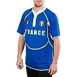 Hommes Cool Dry France Rugby Shirt Royal Bleu Blanc Nouveau - Bleu - Large