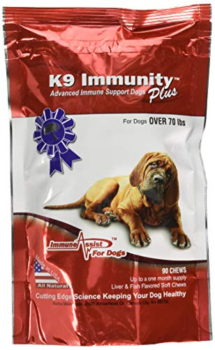 Aloha Medicinals - K9 Immunity Plus - Potent Immune Booster For Dogs Over 70 Pounds - 90 Soft Chews
