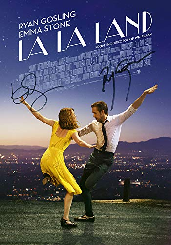 Póster de la película The Gift Room La Land Ryan Gosling con autógrafo, firmado por 2 de impresión de calidad de fundición, tamaño A2 420 x 594 mm, muy raro