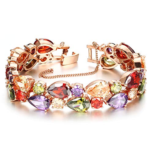 ELSAPELC Jewelry Rose Gouden Dames Armbanden Kleurrijke Zirkoon Ideaal Geschenk
