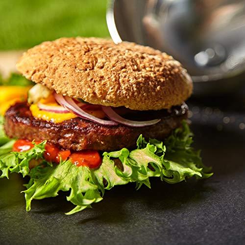 51iswaH9D7L - Gastronette Burger Cloche Burgerhaube Haube für Hamburger Cheeseburger Steak Abdeckhaube Pattys Grillen Käse Schmelzen Edelstahl Schwarz für Plancha Glocke Grill Zubehör Garglocke für Grills