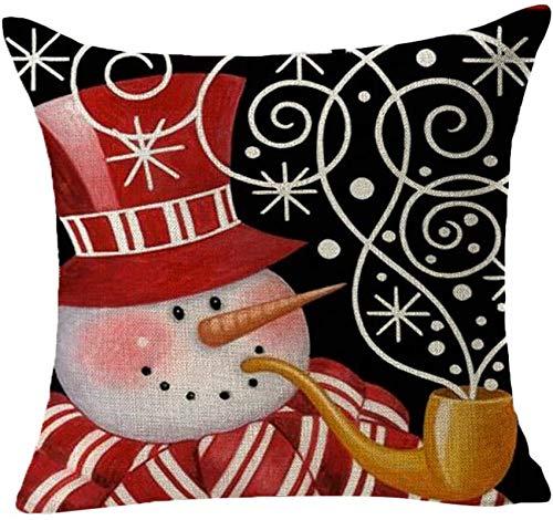 XXLYY Merry Christmas Linen Pillowcase Golden Christmas Pillow Case Cover Decor Pillow Cases Sofa Waist Throw Cushion Cover Decor Decoration Decor Cushion Throw Pillow Cases for Chair 18' X 18'inch