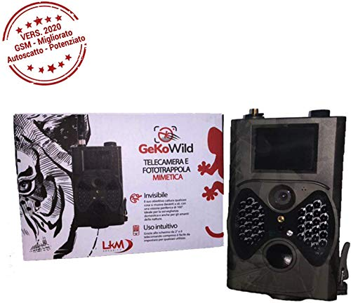 LKM Security Gekowild Telecamera Infrarossi Fototrappola GPRS gsm MMS 16MP LKM-FTT01