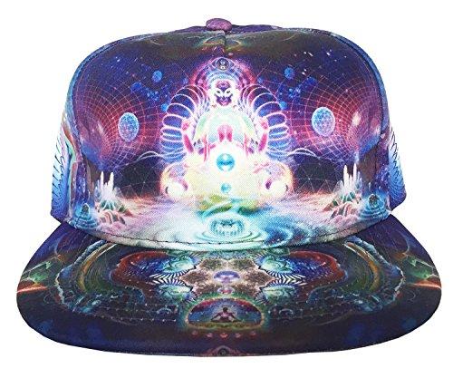3D Print Buddha Unisex Snapback Hip-Hop Cap Hat w/Flat Bill (Style 02)