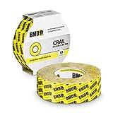 2x BMD - cral Hochleistungsklebeband (Gelb - 50mm x 40lfm) zur Verklebung von Dampfsperrfolie Dampfbremsfolie nach DIN Norm 4108 Teil 7 OSB Klebeband…