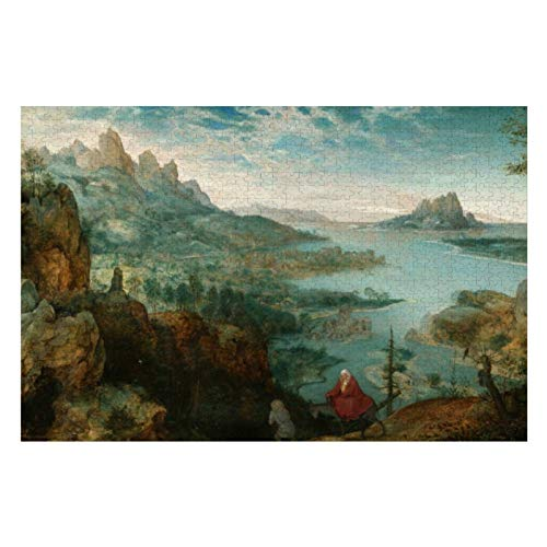 Pieter Bruegel Landscape with Flight Into Egypt Puzzles for Adults, 1000 Piece Kids Jigsaw Puzzles Game Toys Gift for Children Boys and Girls, 20
