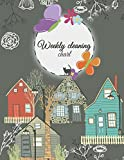 Weekly cleaning chart: Household Planner, Daily Routine Planner,  Cleaning and Organizing Your House 120 Pages Large Size 8.5' x 11'