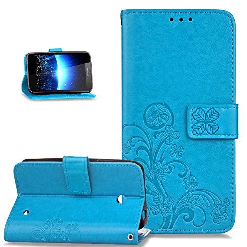 Kompatibel mit Schutzhülle Nokia Lumia 630/635 Hülle Handyhülle Lederhülle,Malerei Schmetterling PU Lederhülle Flip Hülle Cover Ständer Etui Karten Slot Wallet Tasche Hülle Schutzhülle,Blau