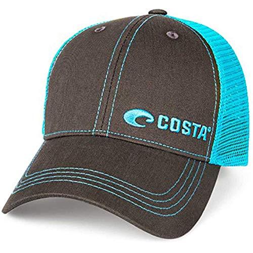 Costa Del Mar Trucker, Graphite + Neon Blue, One Size