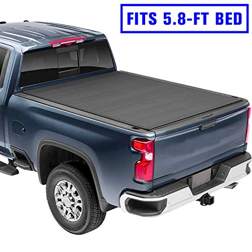 AUTOSTARLAND 5.8' Truck Bed Tonneau Cover - Soft Roll Up Truck Bed Cover Fits for 2014-2020 Silverado/GMC Sierra 1500