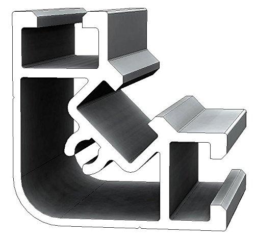 Aluminium T-Nuten Winkel-Verbindungsprofil PW40, 90 Grad, 15 Stangen, 3m/Stange