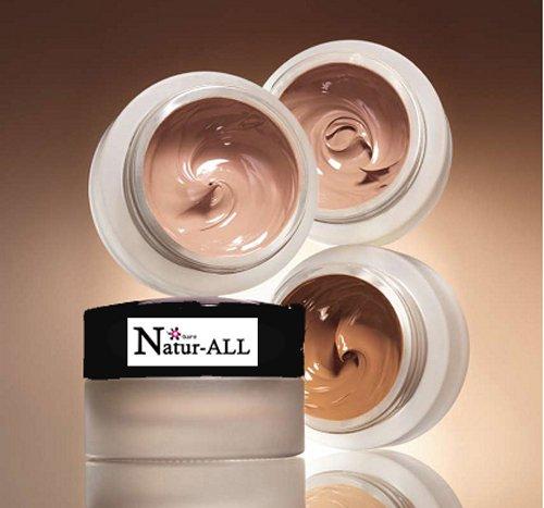 01 Light to Porcelaine Skin Tones - ORGANIC & VEGAN Cream Liquid Natural FOUNDATION Bare NATUR-ALL Minerals- 10gr