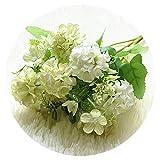 Small-shop Artificial flowers Fleurs artificielles pour 9 têtes hortensias Fleurs artificielles Boules Fausses Fleurs en Soie Décoration Maison Faux Fleurs Décoration de Mariage Bouquet de Table Vert
