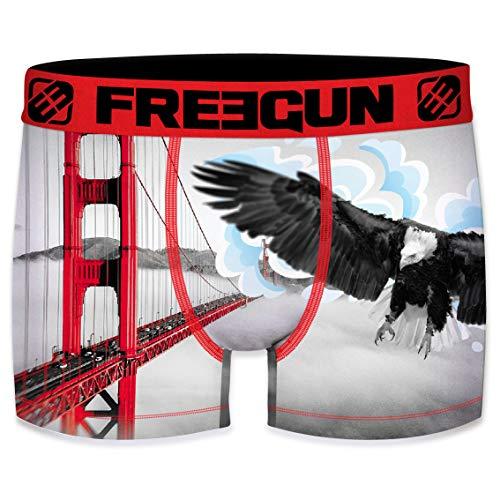 FREEGUN Herren Boxershorts Golden Gate Adler Gr. S, Mehrfarbig