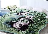 Hiyoko Wild Animal Print Panda Blanket 8LBS, Tv, Cabin, Couch, Plush Velvet Fleece Microfiber. Queen King Bed, 79' wx95 h, Silky Mink Cozy, No Shedding, Lints-Less