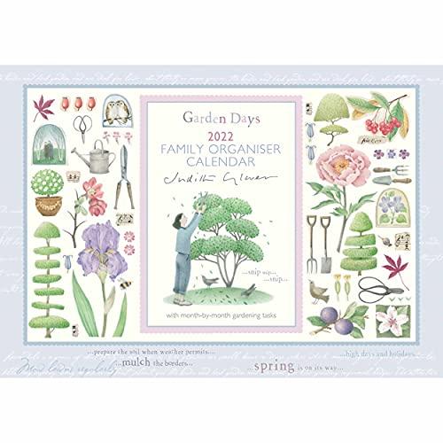 Judith Glover Garden Days 2022 Family Organiser Week to View A4 Wall Calendar (21.5 x 29.7 cm)