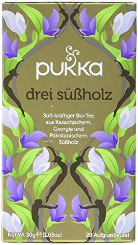 Pukka BIO Tee Drei Suessholz, 20 Beutel