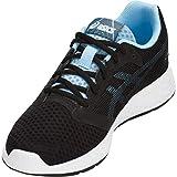 ASICS Zapatillas de running Patriot 10 para mujer, negro (Negro/Skylight), 40.5 EU