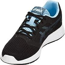 ASICS Women's Patriot 10 Running Shoes, 9.5, Black/Skylight