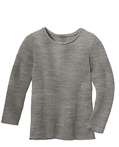 Disana Langarm-Pullover Sommerkollektion (62/68, kieselgrau)