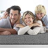 Impression Wohnzimmerteppich - Hochwertiger Öko-Tex zertifizierter Flächenteppich - Solid Color Teppich Hellgrau - Größe 80x150 - 4