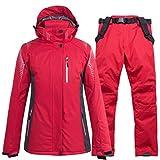 SJIUH Traje de Esquiar,Women Men Ski Suit Snowboard Jacket Pant Unisex Skiing Clothing Trouser Windproof Waterproof Outdoor Sport Wear Couple Winter,Color 3,XXL