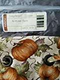 Longaberger Autumn Tote Basket Pumpkin Patch Fabric Over the Edge Style