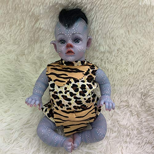 12 inch Alien Realistic Reborn Baby Doll Realistic Hand-Detailed Painting Cotton Body Silicone Vinyl...