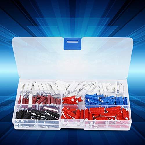 Caja de fusibles para automóvil, kit de fusibles para automóvil, fácil de usar y almacenar 200 piezas para un circuito de protección de operación segura
