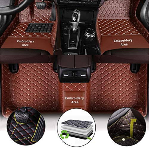 Gengcan Auto Fußmatten Leder Fussmatten für Jaguar E-Pace F-Pace F-Type XE XF XFR XJ6 XJ8 XJL XK XK8 XKR X-Type Super V8 I-pace S-Type Allwetter Autofussmatten CustomFit Automatten