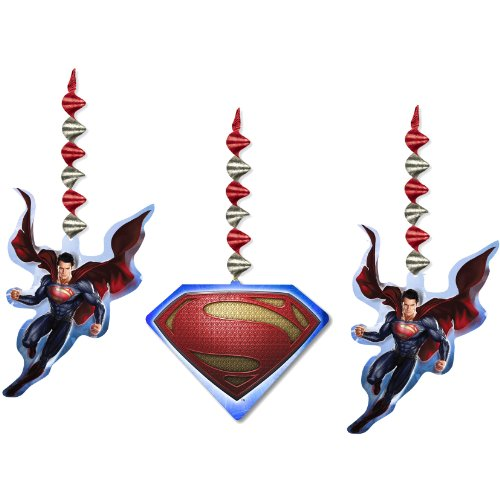 Superman Man of Steel Hanging Decorations (3pc)