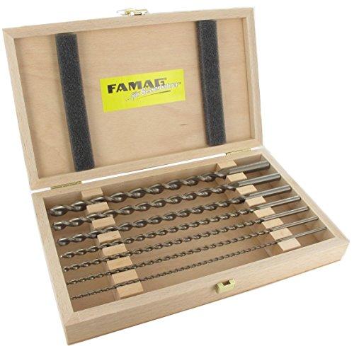 Famag 1599.507 Holzspiralb. -Condanna, HSS-G per 7 Teilig in Scatola di Legno GL 250 mm 159950700